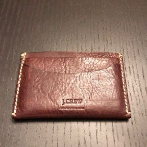 Jcrew leather card case